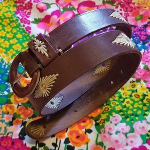 VTG Genuine Leather Brown Belt Made in India